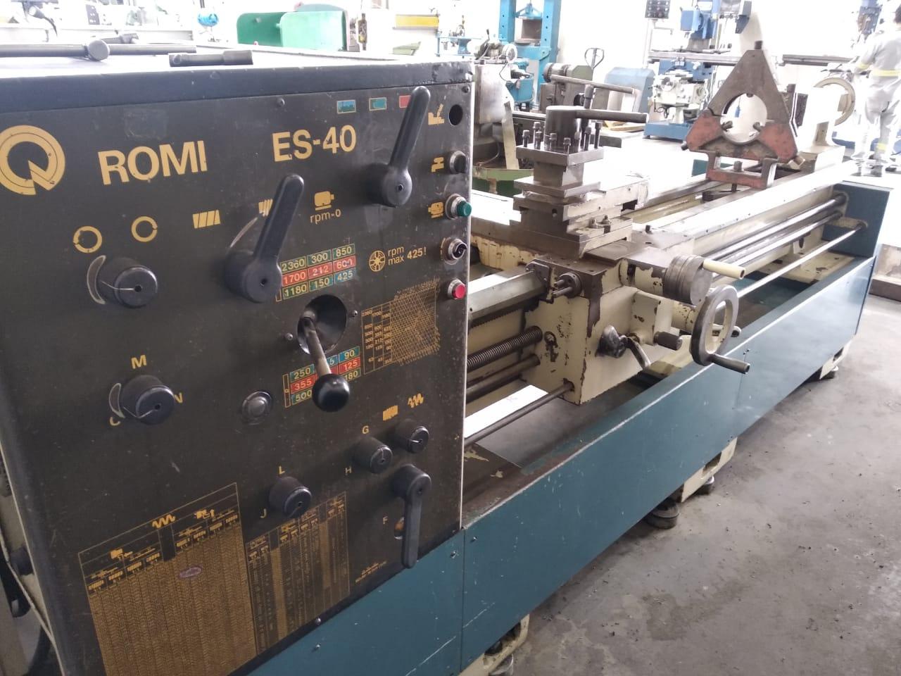 Torno mecânico marca ROMI, modelo ES 40 | Vision Mach Equipamentos